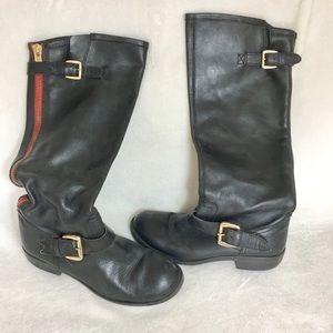 Steve Madden tall riding boots black zipper 8